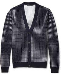 Alexander McQueen Polka-dot Wool and Silk-blend Cardigan - Lyst
