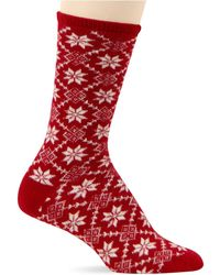 Ralph Lauren Angora Snowflake Diamonds Boot Socks - Lyst