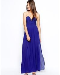 TFNC Maxi Dress With Plunge Bustier - Lyst