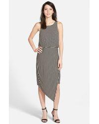 Bobeau Asymmetrical Wrap Dress - Lyst