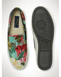 Polo Ralph Lauren Floral Morray Slip-On Sneaker - Lyst