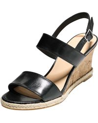 Cole Haan Lane Leather Wedge Sandal - Lyst