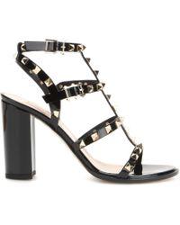 Valentino Rockstud Patent Leather Sandals - Lyst