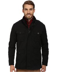 Cole Haan 2-in-1 Convertible Utility Rain Jacket With Hidden Hood - Lyst