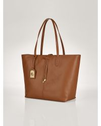 Ralph Lauren Crawley Leather Tote - Lyst