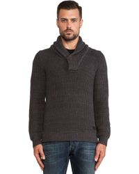 G-star Raw Gralvent Shawl Collar Sweater - Lyst