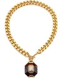 House Of Lavande Batari Pyrite Pendant Necklace gold - Lyst