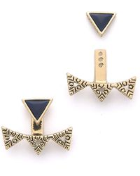 House of Harlow 1960 - #wrappedup Treat Cerro Torre Ear Jackets - Lapis/gold - Lyst