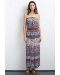 Velvet By Graham & Spencer Kearn Cotton Nehru Print Strapless Maxi Dress multicolor - Lyst