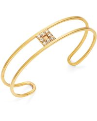 Gerard Yosca Pave Square Bangle Bracelet - Metallic