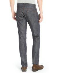 James Jeans - Japan Selvedge Dark Wash Cotton Straight Leg 'tom' Jeans - Lyst
