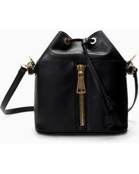 Zara Zipped Bucket Bag - Lyst