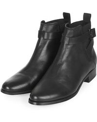 Topshop Black Blanche Boot - Lyst