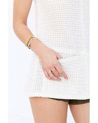 Cooperative Double Pocket Tunic Top - White