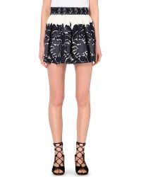 Chloé Floral-Embroidered Mini Skirt - Lyst