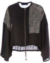 Sharon Wauchob Lace Panel Jacket - Black