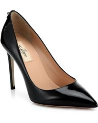 Valentino Patent Leather Pumps - Lyst