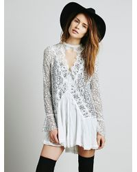Free People Secret Origins Pieced Lace Tunic - Lyst