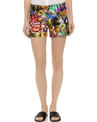 Milly Tropical Print Nikki Shorts - Multi - Lyst
