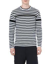 Comme Des Garçons Breton Stripe Top Black - Lyst