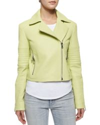 J Brand Aiah Zip Leather Jacket - Lyst