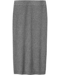 Toast Ribbed Wool Skirt - Grey