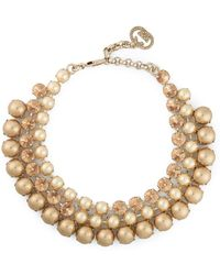 Gucci Embellished Necklace gold - Lyst
