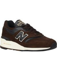 New Balance Brown 997 Sneakers - Lyst