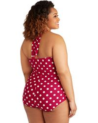 Esther Williams Swimwear Beach Blanket Bingo One-Piece Swimsuit In Red - Plus Size - Lyst