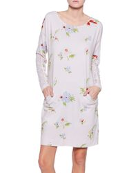 Ti Mo Print Crepe Dress - Lyst
