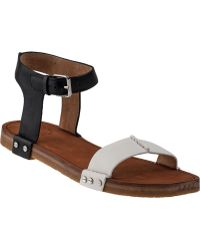 Marc By Marc Jacobs | Two-tone Flat Sandal White/black Leather | Lyst