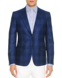 Alexander McQueen Gingham Illusion-Lapel Shadow Jacket - Lyst