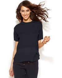 Michael Kors Michael Short-Sleeve Layered-Look Sweater - Lyst