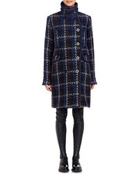 Sacai Luck - Tweed Double-breasted Coat - Lyst