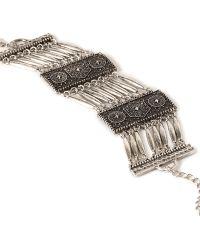 Forever 21 Ornate Etched Bracelet - Lyst