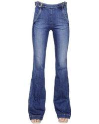 Stella McCartney Flared Cotton Denim Jeans - Lyst