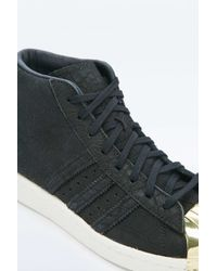 adidas Originals - Pro Model High-top Black Metal Shell Trainers - Lyst