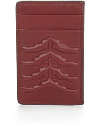 Alexander McQueen Embossed Leather Card Holder - Lyst