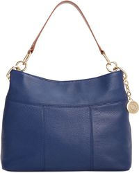 Tommy Hilfiger Th Signature Leather Small Hobo - Lyst