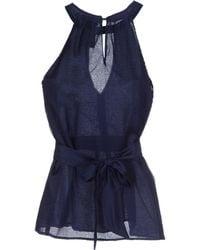 Emporio Armani Top blue - Lyst