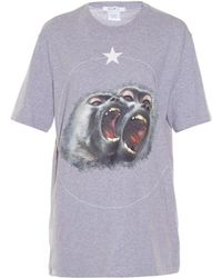 Givenchy   Twin Monkeys-print T-shirt   Lyst