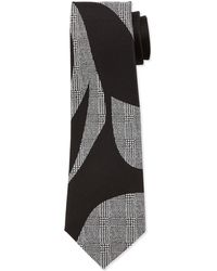 Alexander McQueen Silk Prince Of Wales Check & Solid Tie - Lyst