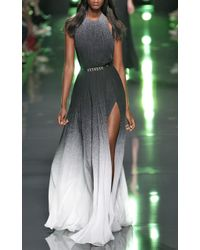 Elie Saab Ombre Silk Gown - For Women - Lyst