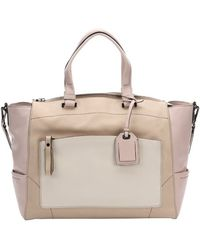 Reed Krakoff Camel And Light Pink Leather Large Convertible Tote Bag - Lyst