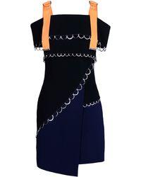 Mugler Short Dress black - Lyst