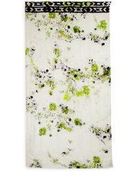Cynthia Vincent Floral Border Scarf - Multicolor