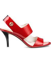 Michael Kors Rochelle Sling-Back Patent-Leather Sandal - Lyst