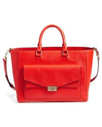 Tory Burch 'T-Lock' Saffiano Leather Tote - Lyst
