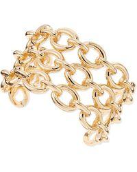 Sequin - Chainlink Cuff Bracelet - Lyst
