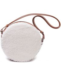 Paco Rabanne | Brown And White Round Shoulder Bag | Lyst